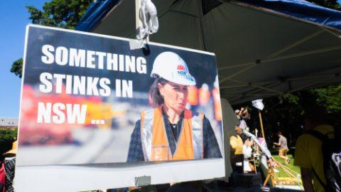 Berejiklian stinks billboard