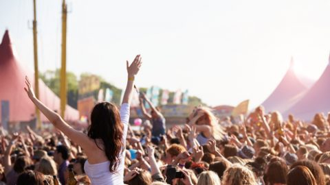 Music festival people