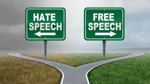 Hate speech vs free speech