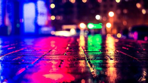Raining on the street
