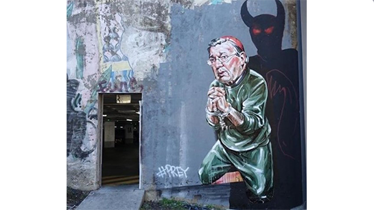 Satanic graffiti of George Pell