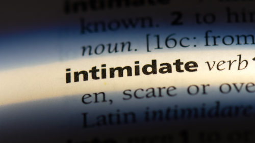 Meaning of 'Intimidate'
