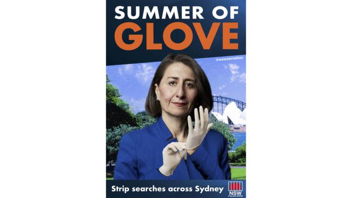 Summer of glove sign artwork