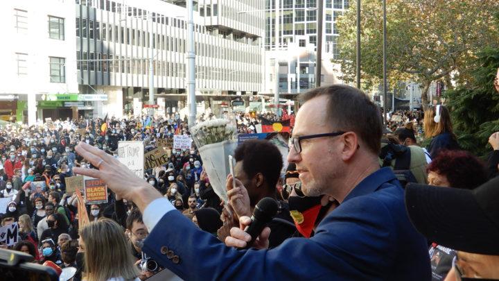 Shoebridge at the blm protest