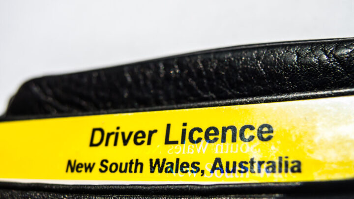 NSW Driver Licence in black wallet