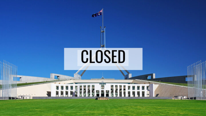 Parliament closed