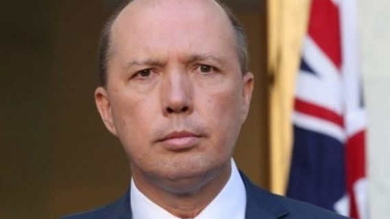 Peter Dutton and the Australian flag