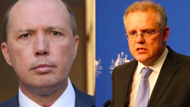 Peter Dutton and Scott Morrison