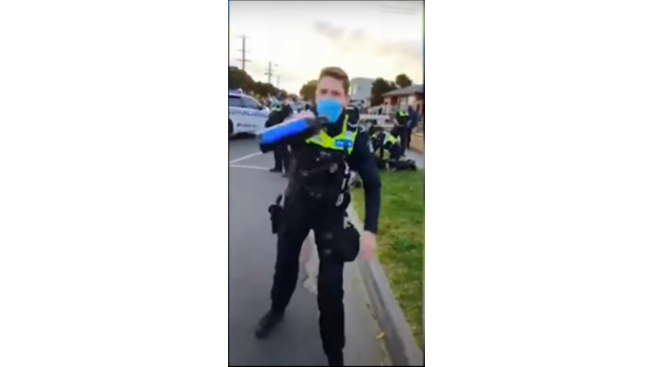 Policeman lockdown