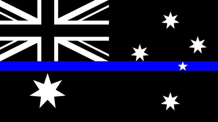 Thin blue line, Australian flag