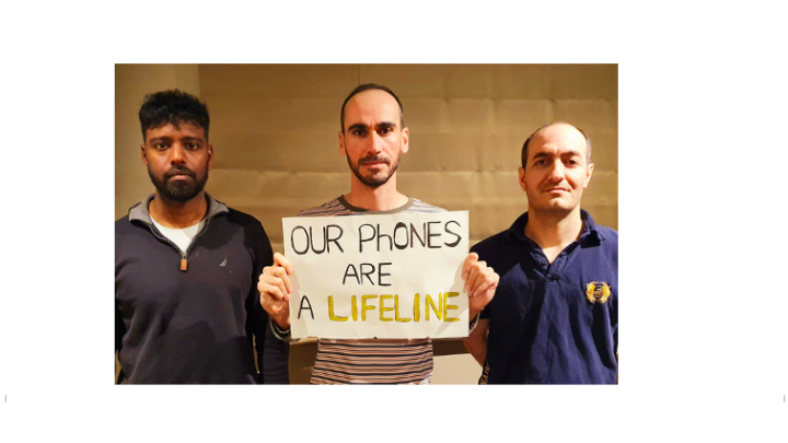 Refugees and phones lifeline