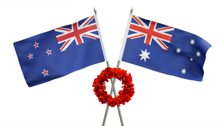 Australia and New Zealand flags