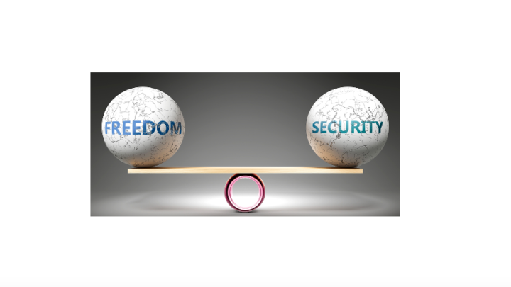 Balance of freedom and security