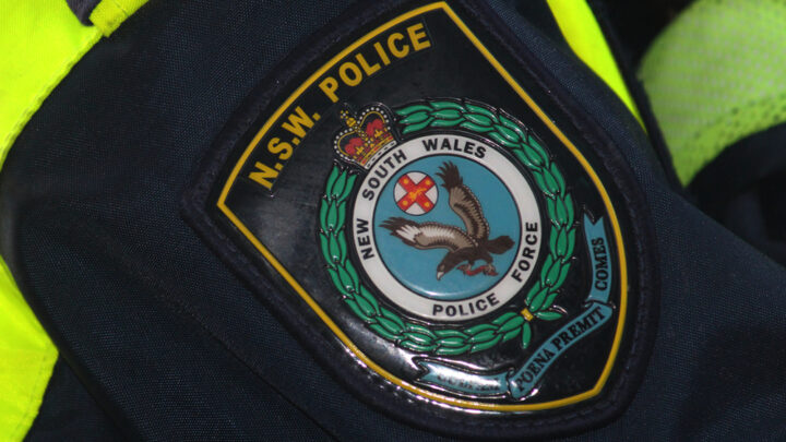 NSW Police badge on uniform