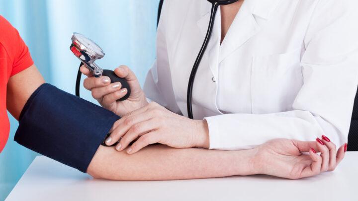Doctor treating patient