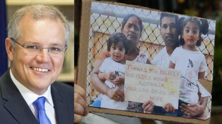 Morrison and the Biloela family