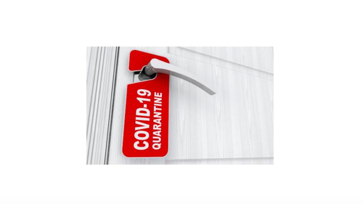 COVID quarantine sign