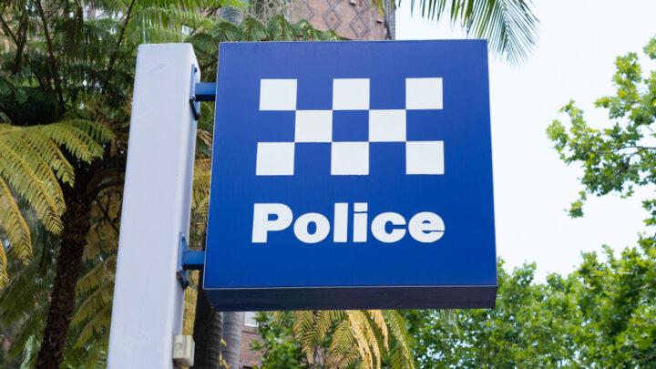 Blue Police sign