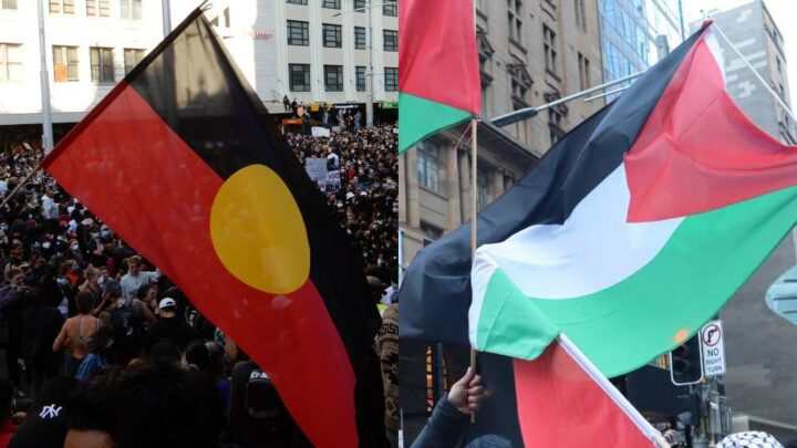 Aboriginal and Israel flags