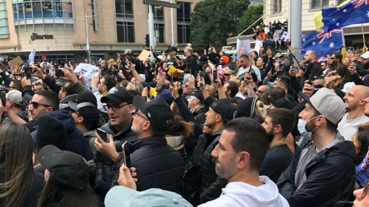 Crowd protest